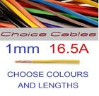 1.0mm Auto Cable, 12/24v Thinwall Electrical Car Wire,16.5 Amp 100 Colours