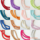180pcs/ 900pcs (4mm) Colors Strands Glass Pearls Loose Beads Round Craft DIY