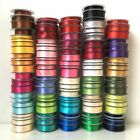 2 Metres of Satin Ribbon Double Sided 3mm 6mm 15mm 25mm in Multiple Colours