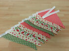 Handmade Fabric Bunting Shabby Chic ~ 3 or 6m ~ Weddings, Garden Parties, Decor