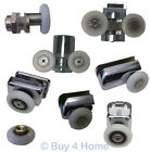 Replacement Shower Door Rollers - Various White & Chrome Plated Runner Wheels
