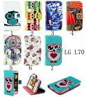 For LG Optimus L70 D325 MS323 magnetic PU Leather slot Hybrid wallet Cover Case