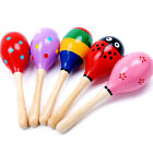 Wooden Sand Hammer Maraca Shaker Toy Musical Instrument Kids Percussion