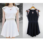 New Fashion Women Floral Ruffle Evening Party Cocktail Prom Mini Dress Summer A