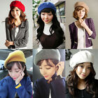 New Men Women Ladies UNISEX Wool Beret French Style Hat Solid COLOURS AVAILABLE