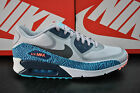 NIKE AIR MAX 90 CMFT PREMIUM TAPE MENS HYPERFUSE REFLECTIVE GREY BLUE 616317 004