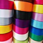 SATIN RIBBON 25mm 1'width,Lenght 2m 5m 10m 20m 100m,Sewing Craft Decoration Gift