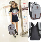 Unisex Retro Canvas Backpack Satchel Travel Hiking Bag School Bookbag UK