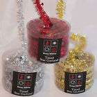 Christmas Decoration 5 Metre Tinsel Garland with Mini Stars RED GOLD or SILVER
