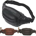 Fashion new  AC56 Men's Compact cow Leather Belt Waist Bag Fanny Pack small bag
