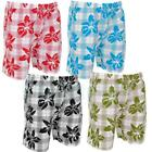 Floral Print Summer Swim Short Shorts  Mens Size