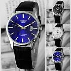 Classic Fashion Luxury Black Leather Strap Calendar Quartz Mens Date Wrist Watch