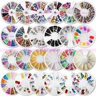 3D Colors Irregular Rhinestone Acrylic Nail Art Glitter Powder UV Gel Gems Kits