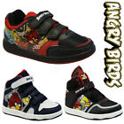 **BOYS INFANT ANGRY BIRDS SCHOOL FASHION HI TOP TRAINERS BOOTS VELCRO KIDS SHOES