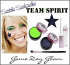 Seattle Seahawks Fan  Game Face Glitter Bling Spirit Make Up Kit Cute w/ Jersey