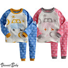 "Vaenait Baby Toddler Kids Boys Girls Clothes Long Pajama Set ""Owl Snow"" 12M-7T"