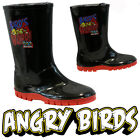 BOYS ANGRY BIRDS WINTER SNOW MOON MUCKER WATERPROOF WELLINGTONS WELLIES BOOTS
