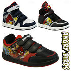 BOYS INFANT ANGRY BIRDS SCHOOL FASHION HI TOP TRAINERS BOOTS VELCRO KIDS SHOES