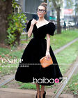 Vintage, Elegant Puff Sleeve Noble Solid Runway Celebrity Ball Gown Dress 13