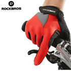 Rockbros Spring And Autumn Full Finger Gloves Touch Screen Gloves Red