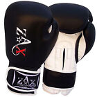 16 OZ Cow Hide Leather Gel Boxing Gloves Sparring Punch Bag Muay Thai Grappling