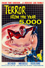 Vintage 1950s Sci Fi Movie Poster Terror From The Year 5000 Atomic Era Retro