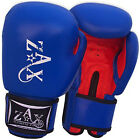 16 OZ Cow Leather Gel Boxing Gloves Sparring Grappling Muay Thai Pads Gloves