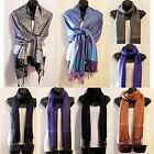New Soft Women's Paisley Pashmina Silk Solid Colors Scarf Wrap Shawl Stole