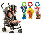 Baby Kids Tinkle Trio Rattles Jingle Car Bed Stroller Bell Animal Plush Doll Toy
