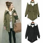 Women Zip Hooded Parka Thick Fleece Warm Winter Coat Overcoat Long Jacket
