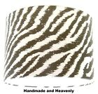 Lampshade Handmade with Masai Animal Passion Zebra Print Wallpaper W:20cm H:13cm