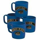Set of 4 Stacklable Unbreakable Mugs That Show Rank - Blue or Red Available