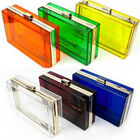 Women Girl Clear Transparent Acrylic Clutch Evening Bag Handbag Shoulder bag