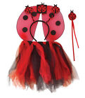 CHILDS #BUMBLE BEE OR LADYBIRD TUTU WITH WINGS HEADBAND FANCY DRESS ACCESSORY