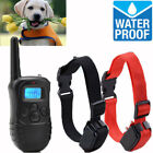 Dog Pet Training Collars Rechargeable Waterproof LCD 100LV Shock Vibra Remote
