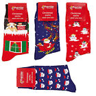 Novelty Adult Christmas Socks - One Size - 4 Designs - Fun Stocking Filler
