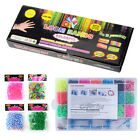 300/600/5000pcs Rainbow Rubber Loom Bands Bracelet Making Kit Set With S-Clips