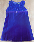 David Charles girl purple velour dress 3-4 y New special occasion party designer