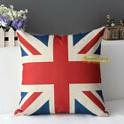 Retro Home Decorative Union US France Flag tower Flat Pillow Case Cushion Cover