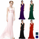 Sexy V Neck Womens Ball Gown Evening Bridesmaid Wedding Party Prom Long Dress