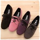 Cute Women's Lace Up Faux Suede Oxford Flats Boots Booties Loafers Dress Shoes