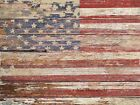 New Americana Rustic Flag Matted Picture Fine Art Print A643