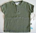 NWT Infant Boys Short Sleeve Henley Shirt by Jaxxwear  Size 9 Mo 'Marine Stripe'