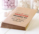 Personalised Hangover Survival bags - Kraft paper party hen night stag birthday
