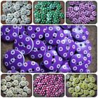 30 x 2-Hole Printed Wooden Buttons - Round - 15mm - Dots/Checks Available