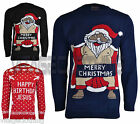 Men's Adults Novelty Naked Santa Merry Christmas Knitted Jumper Sweater Top
