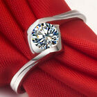 Angel Kiss 0.6CT Diamond Engagement Ring Sterling Silver Fine Jewelry For Women