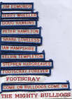 AFL FOOTSCRAY FOOTBALL CLUB DUFFLE COAT NAME TAGS LIST NUMBER 1