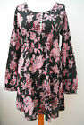 New-White Stuff tunic dress~Black/pink/red vintage print~8-10-12