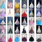 AMOI001 Barbie Doll Clothes Lovely Fancy Gowns Wedding Evening Party Ball Dress